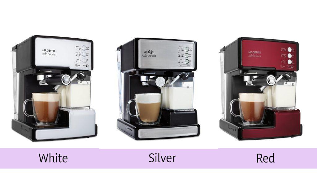 Mr Coffee Cafe Barista Espresso Maker Colors