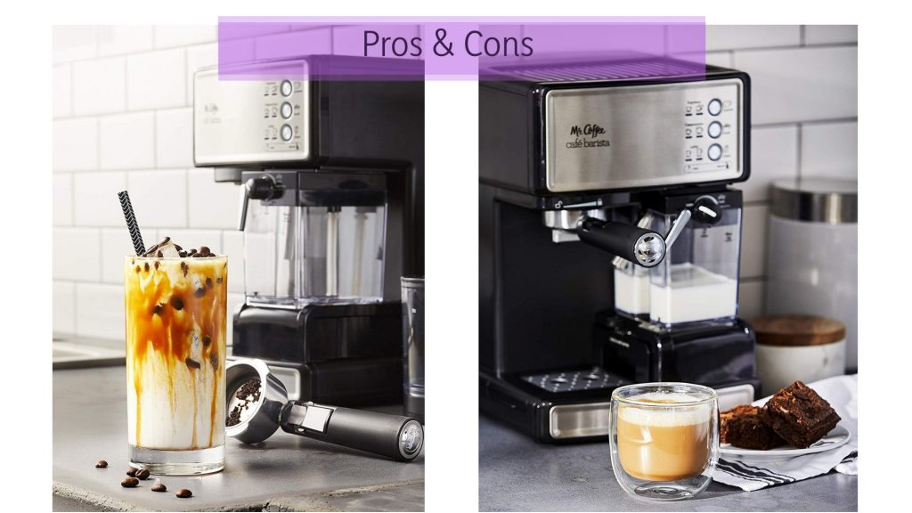 Mr Coffee Cafe Barista Pros and Cons