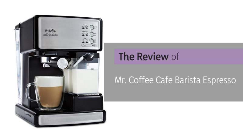 Mr Coffee Cafe Barista Review