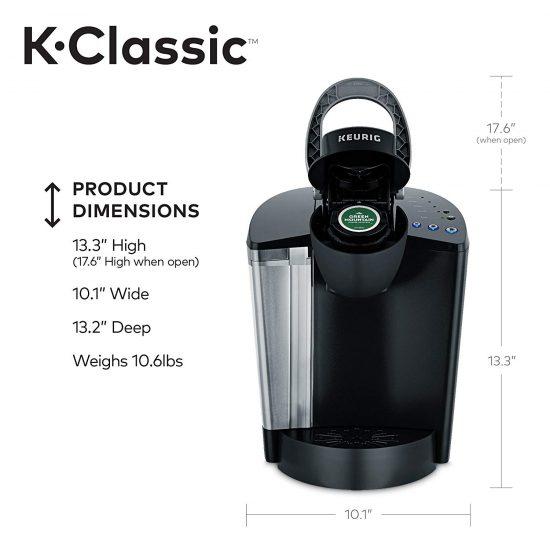 Keurig K55 dimensions